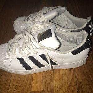 White adidas all stars